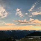 Stunning sunset from the base of the ski resort of Arinsal