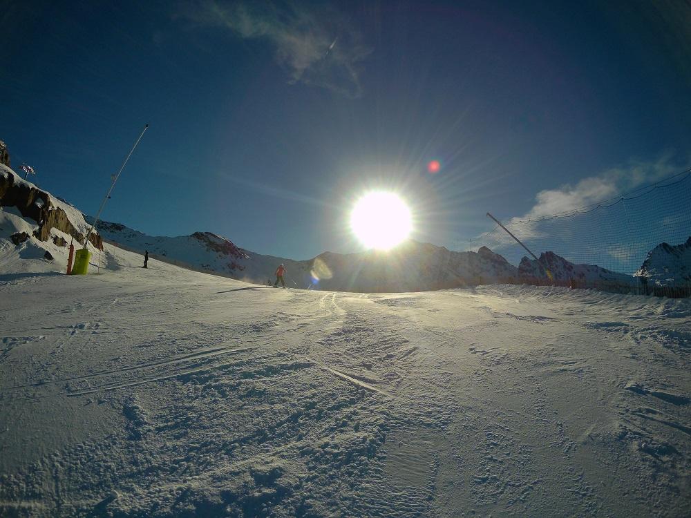 Red slope La Balma in Arcalis