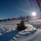 Sunny view from the draglift Els Coms