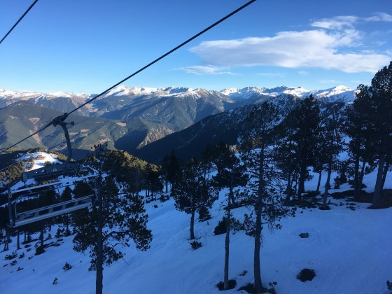 The view from the chairlift El Cubil