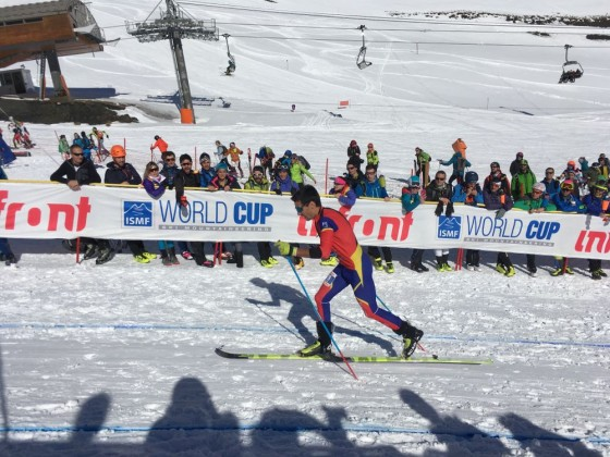 The Andorran skier sprinting to the finish line