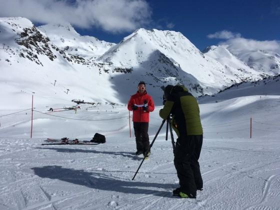 Andorran TV recording the Freeride World Tour