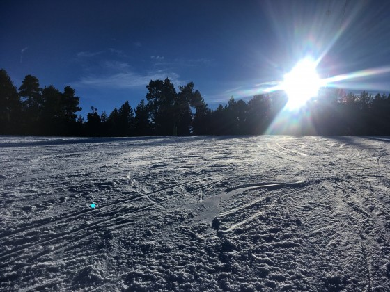 Beautiful sunny days and great snow this week on the slopes of Pal