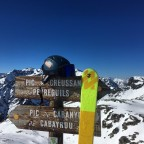 We had a break on the peak Creussans