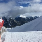The red slope La Pala was our piste of the day!