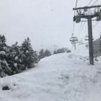 Snowfall on the Josep Serra chairlift