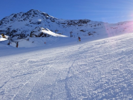 The slopes still empty during this week in Arcalís