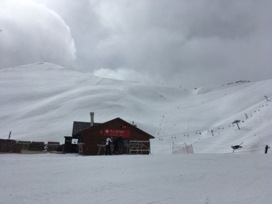 Snow clouds rolling in above Xalet Igloo