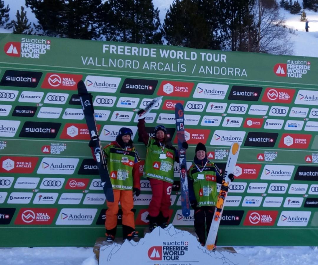 Winners of the ski women category
