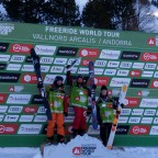 Winners of the ski women category