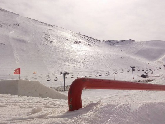 Do you date to rail in the snowpark of Arinsal?