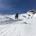 Jumping on the Arinsal Snow Park