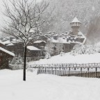 The village of Arinsal painted on white