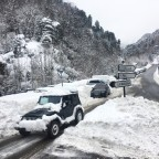 The towns, roads and slopes are covered in snow
