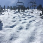 Some bumps on the off piste under Cubil chairlift