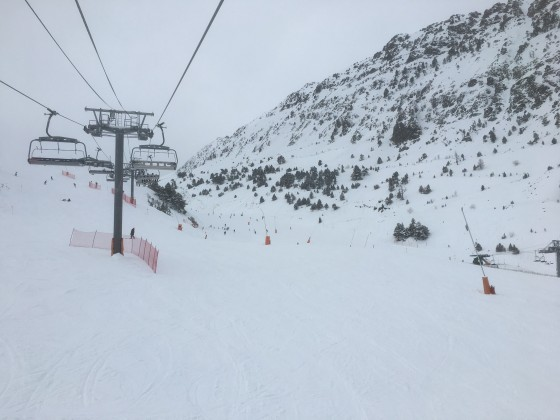 View from Les Font chairlift