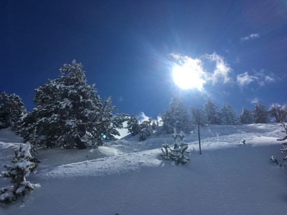 The sun was strong today on the slopes of Arcalis