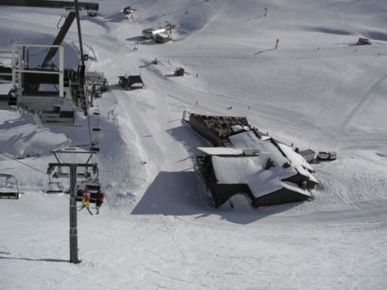 View from Creussans chair lift 16/12