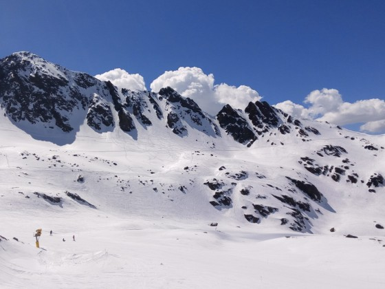 It was a beautiful day to watch the specatacle of the Freeride World Qualifier