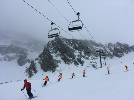 School group skiing La Portella del Mig