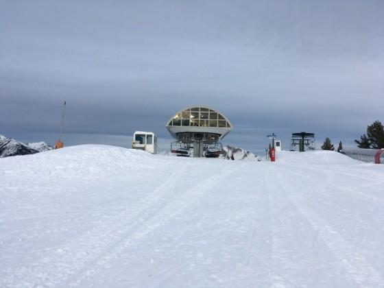The top of La Serra chairlift
