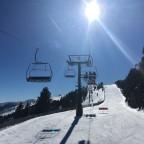 On the Coll de la Botella chair lift