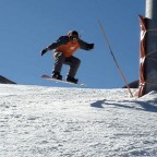 Frankie Snowboarding