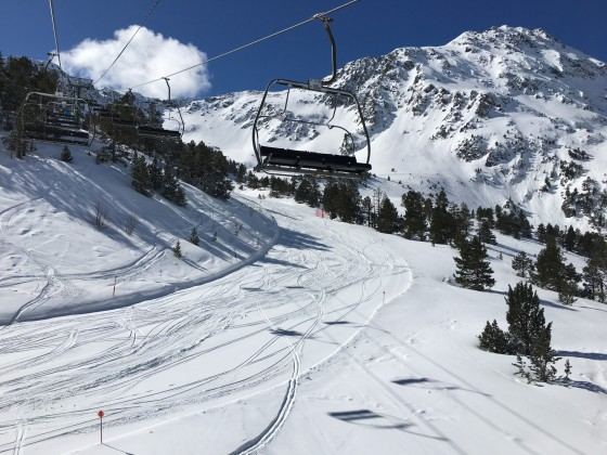 View from the L'Abarsetar chairlift