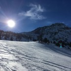 Bluebird skies in Arcalís all day long