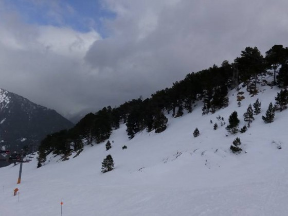 The red slope La Tossa in Arinsal