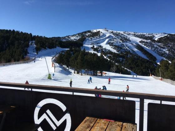 View of the slopes from Pla de la Cot