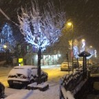 We have snow in the village!