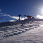 The sun over La Serra II chairlift