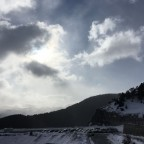 Clouds, sun and snow at the same time is possible in Arinsal
