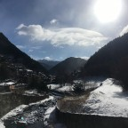 The town of Arinsal covered by snow