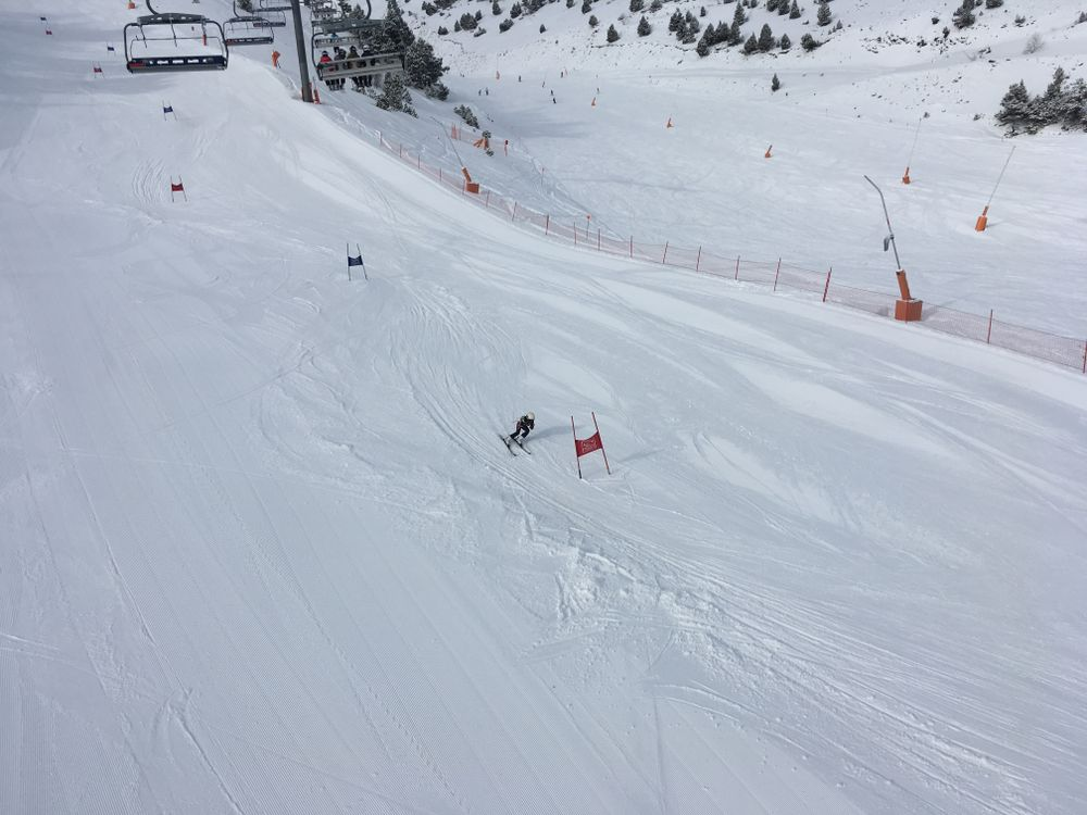 The Andorran Ski Federation held this junior competition today