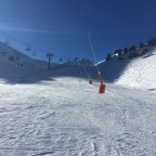 The blue run Les Fonts was very quiet today