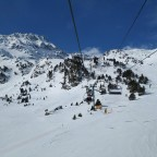 Heading up La Basera chairlift