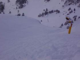 Amazing off piste snow