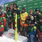 Some of the ski men participants of the FWT2019