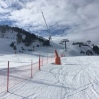 Clouds descending over the Bony red run