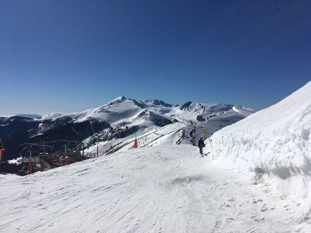 The view from the top of the Port Negre lift