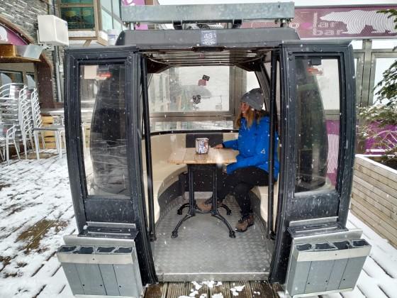 We had a break in the gondola of Polar Bar