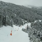 The view of El Gall blue run