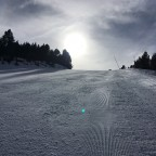 The steeper slopes were practically empty, they even had groomed lines