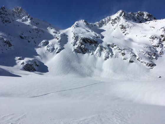 Untouched white mountains in Arcalis