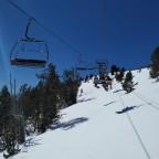 Heading up Coll de la Botella chairlift