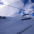 Going up Les Fonts chair lift