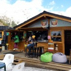 The Derby Deli is a great place to chill at the bottom of the slopes with live music on peak days