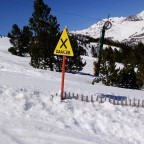 Always respect the signs in the mountains of Vallnord